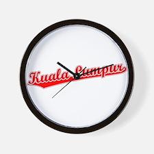 Retro Kuala Lumpur (Red) Wall Clock