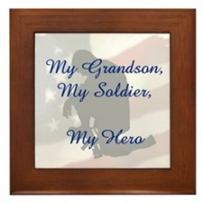 My Grandson, My Hero Framed Tile