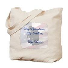 My Grandson, My Hero Tote Bag