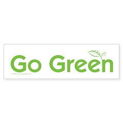 Go Green Bumper Sticker (50 pk)