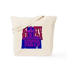 klaatu, barada, nikto Tote Bag
