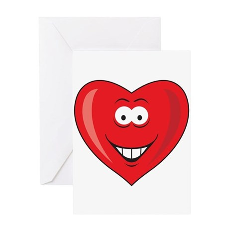 Heart Valentine Smiley Face Greeting Card