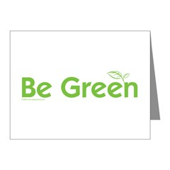 Be Green Note Cards (Pk of 10)