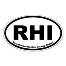 Rhinelander-Oneida County Airport Oval Decal