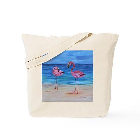 Two Flamingos Tote Bag