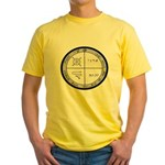 3rd Pentacle of Jupiter Protection Yellow T-Shirt