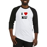 I Love KU Baseball Jersey