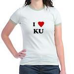 I Love KU Jr. Ringer T-Shirt