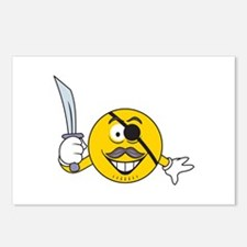 Pirate Smiley Face Postcards (Package of 8)