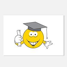 Graduation Graduate Smiley Face Postcards (Package