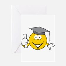 Graduation Graduate Smiley Face Greeting Card