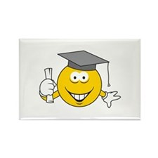 Graduation Graduate Smiley Face Rectangle Magnet