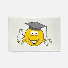 Graduation Graduate Smiley Face Rectangle Magnet