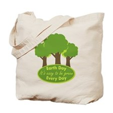 It's Easy To Be Green Earth Day Tote Bag