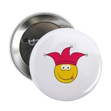 """Jester Smiley Face 2.25"""" Button"""