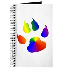 Rainbow Gay Pride Cat Paw Journal
