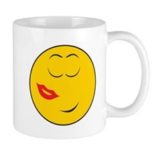 Been Kissed Smiley Face Mug