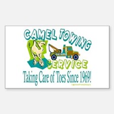 Camel Towing Rectangle Decal