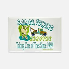 Camel Towing Rectangle Magnet