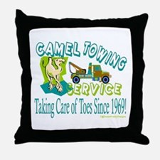 Camel Towing Throw Pillow