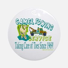 Camel Towing Ornament (Round)