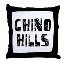 Chino Hills Faded (Black) Throw Pillow