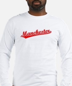 Retro Manchester (Red) Long Sleeve T-Shirt