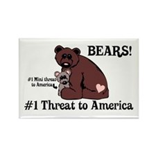 Bears, #1 Threat to America Rectangle Magnet