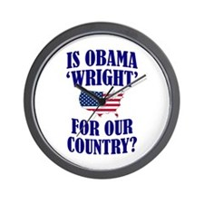 Is Obama 'Wright'? Wall Clock