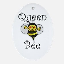 Queen Bee Oval Ornament