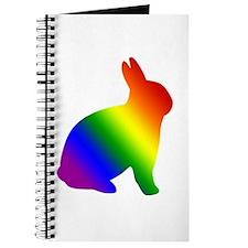 Rainbow Gay Pride Bunny Rabbit Journal