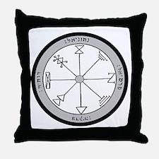 1st Pentacle of Jupiter Prosperity Throw Pillow