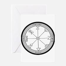 1st Pentacle of Jupiter Prosperity Greeting Card