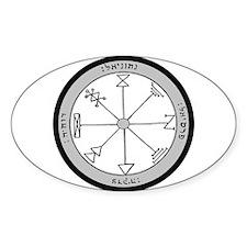 1st Pentacle of Jupiter Prosperity Oval Decal
