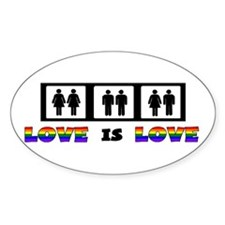 Love is Love Oval Stickers