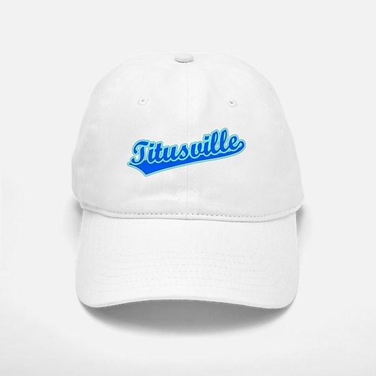 Retro Titusville (Blue) Baseball Baseball Cap