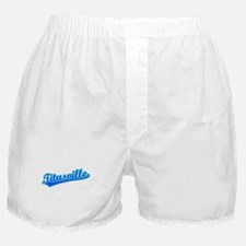 Retro Titusville (Blue) Boxer Shorts