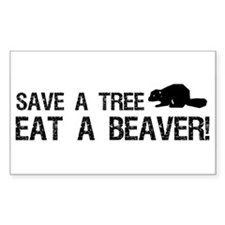 Save a Tree Rectangle Decal