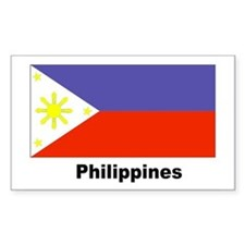 Philippines Filipino Flag Rectangle Decal