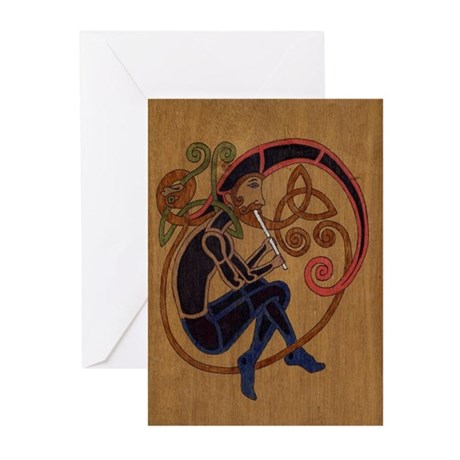 Celtic Whistle Playe Note Cards (Pk of 10)