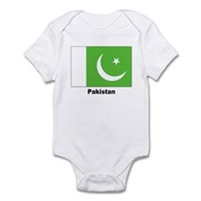 Pakistan Flag Infant Creeper