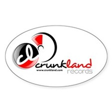 CrunkLand Records Oval Decal