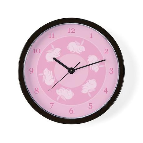 Baby Bunnies Clock (Pink)