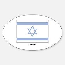 Israel Israeli Flag Oval Decal