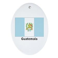 Guatemala Flag Keepsake (Oval)