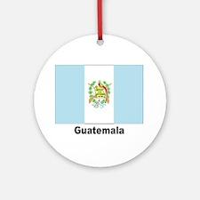Guatemala Flag Keepsake (Round)