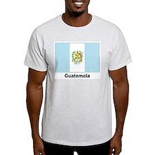 Guatemala Flag (Front) Ash Grey T-Shirt