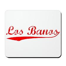Vintage Los Banos (Red) Mousepad