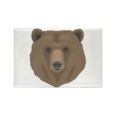 Grizzly Bear Rectangle Magnet (100 pack)