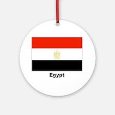 Egypt Egyptian Flag Keepsake (Round)